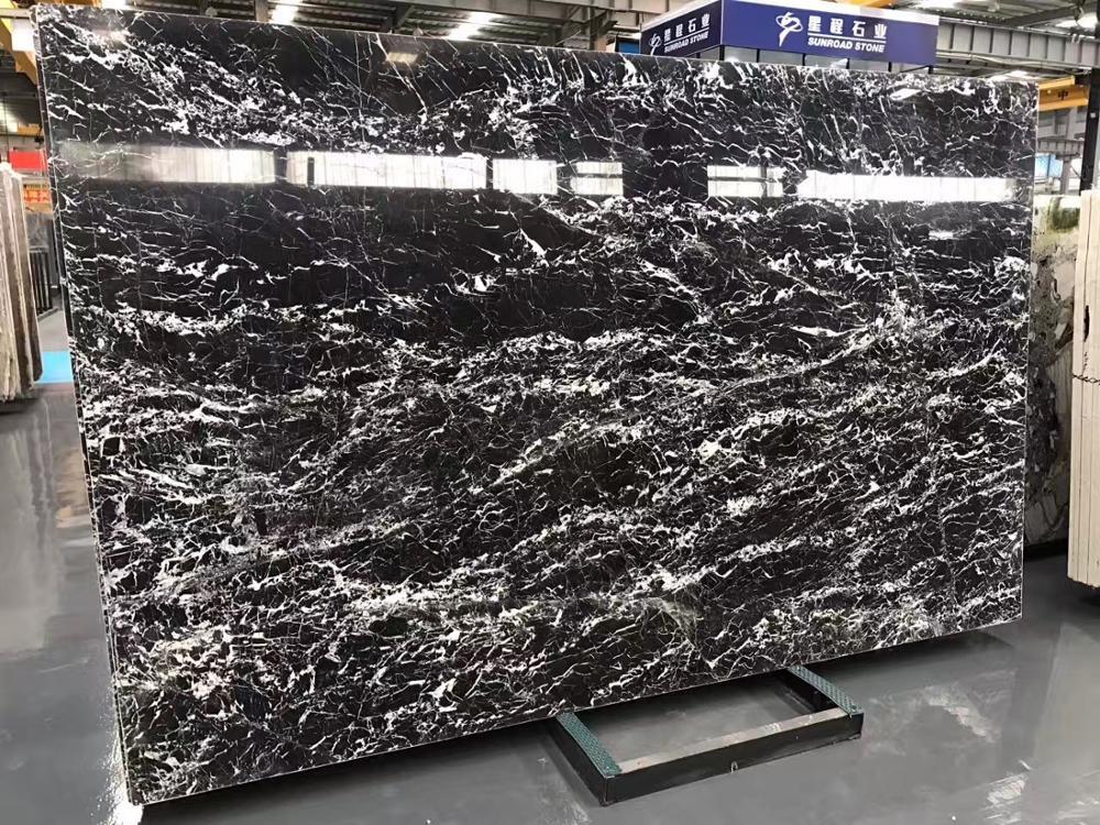 Wholesale Imported Natural Stone Italian Black Marble Slabs