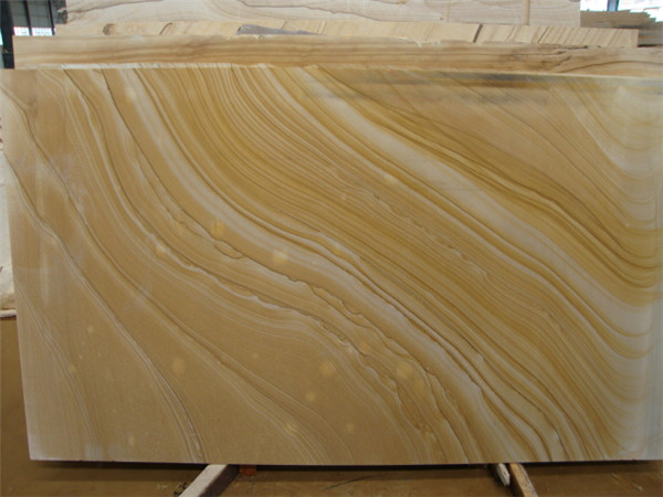 Wood Grain Yellow Marble For Interior Design