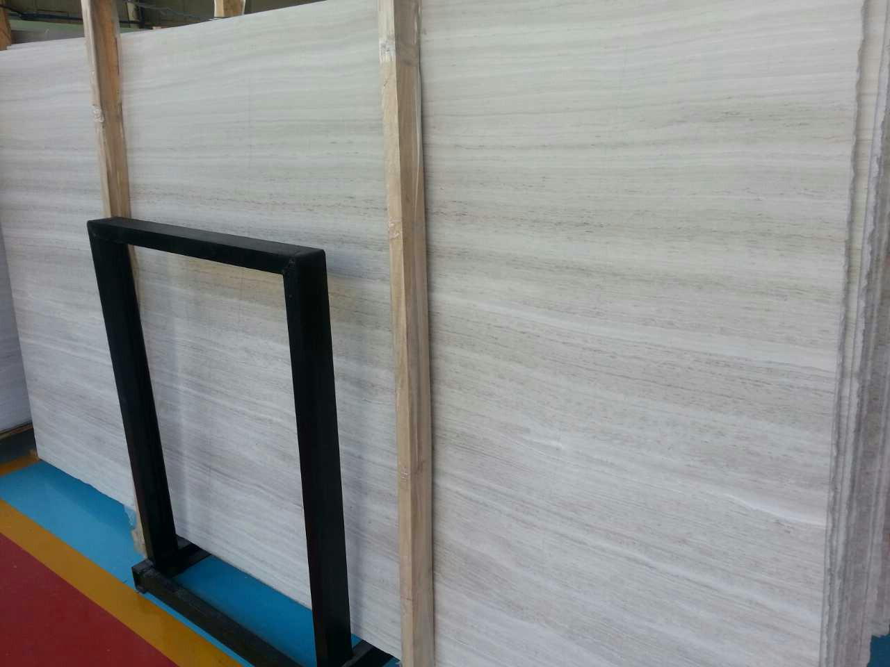 Wooden White Marble Slab