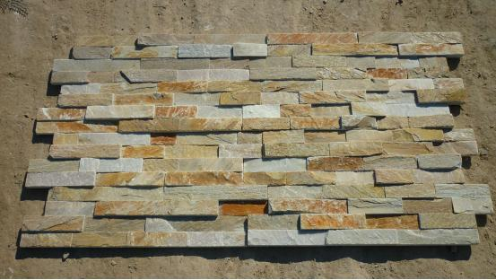 Wooden Yellow  Slate Culture Stone