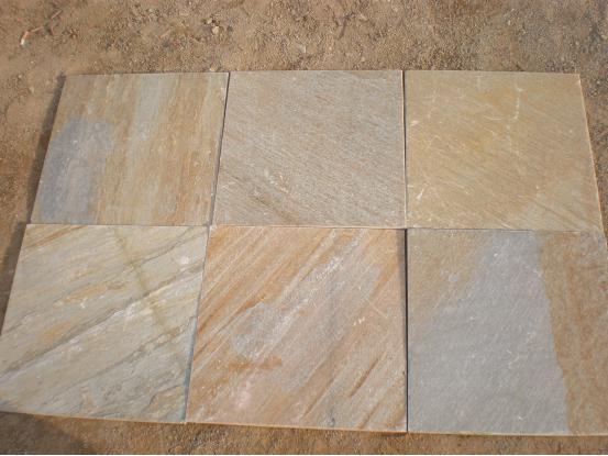 Wooden Yellow Slate Tile