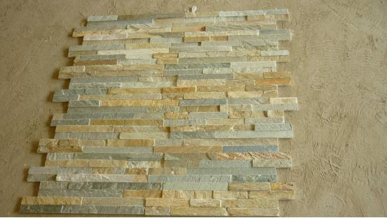 Wooden Yellow Thin Culture Stone