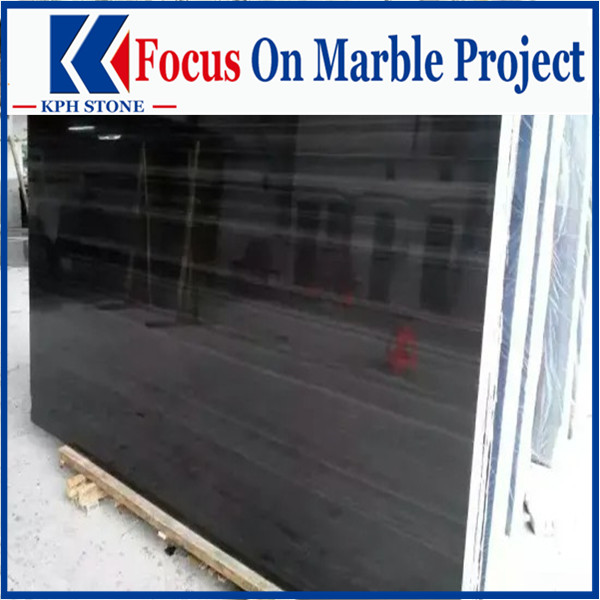 Wooden black marble