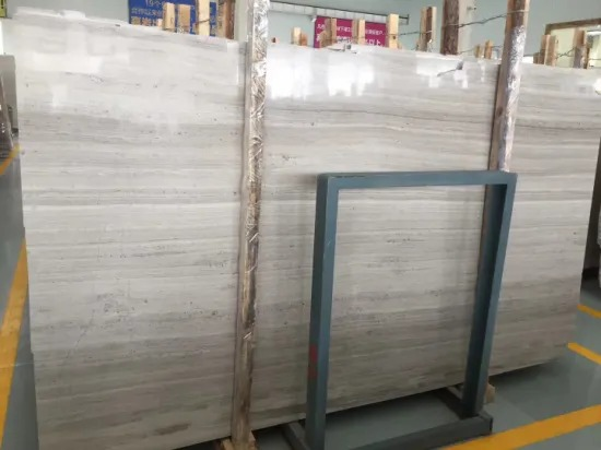 China Original White Wooden Marble Slab