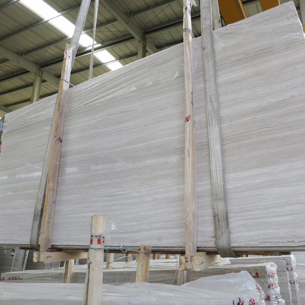 Wooden white slab