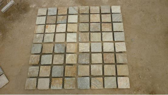 Wooden Yellow Net Paste Paver