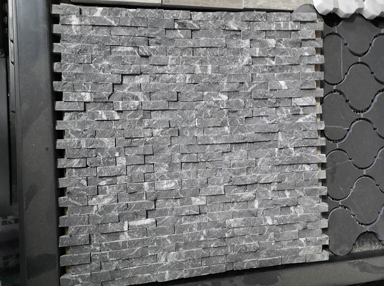 Bulk Natural Stone Marble Split Face Gray Mosaic T