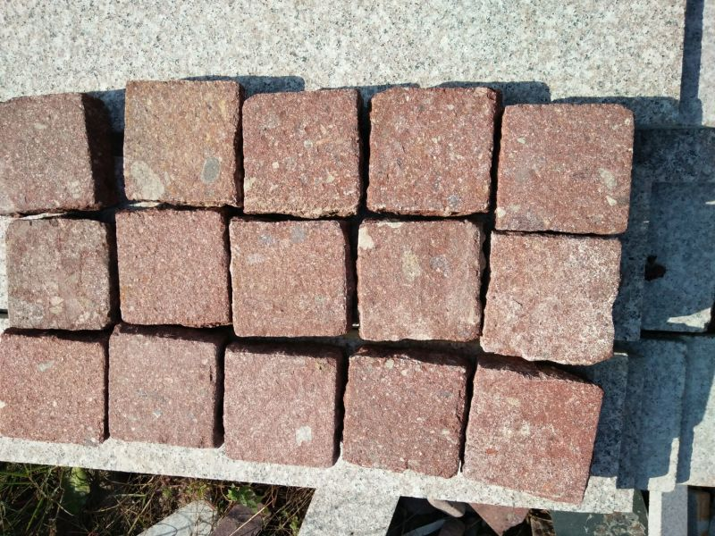 Red Granite paving stone