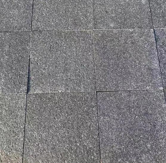 Black color flame gray grey basalt floor tile