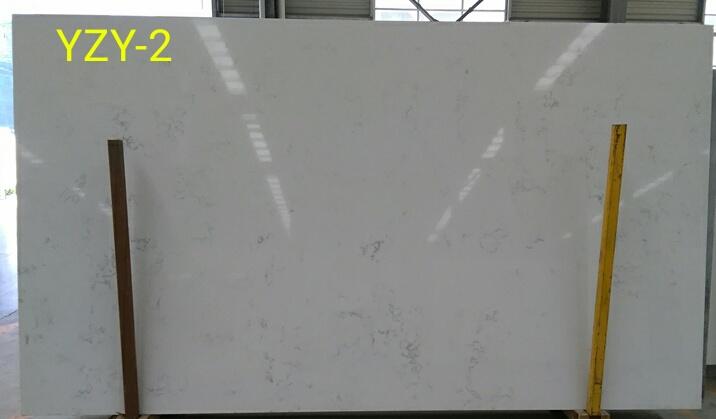 YZY Calacatta white quartz slab