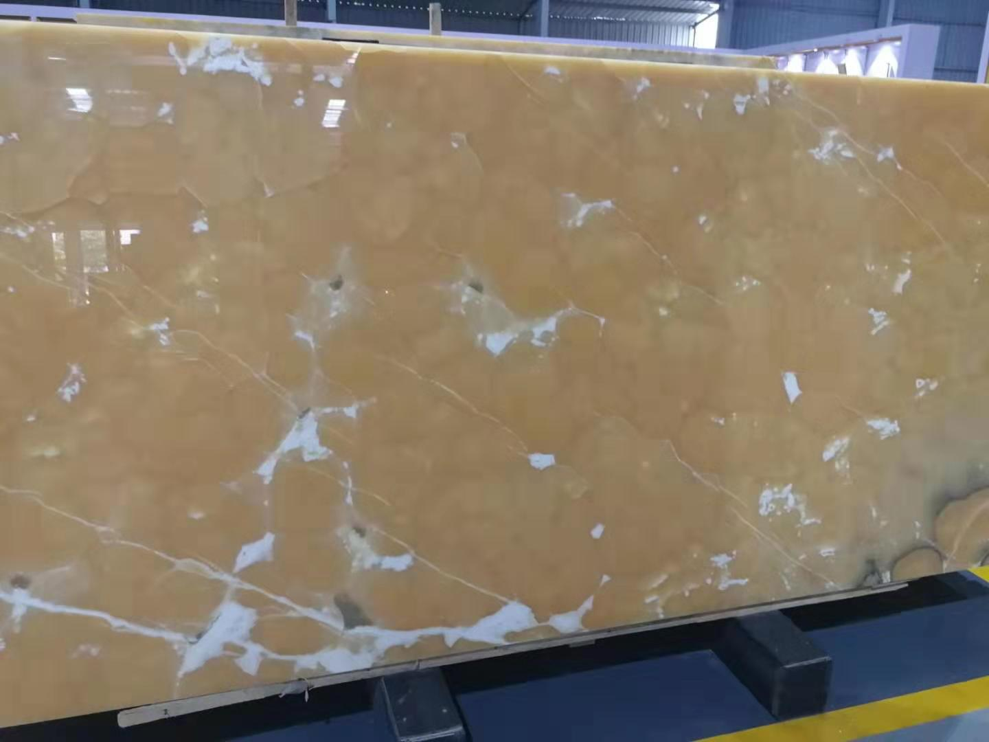 Yellow onyx big slab