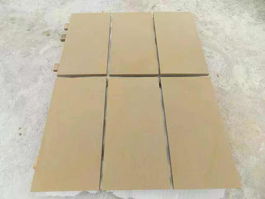 Yellow Sandstone Beige Sandstone Tiles for Flooring
