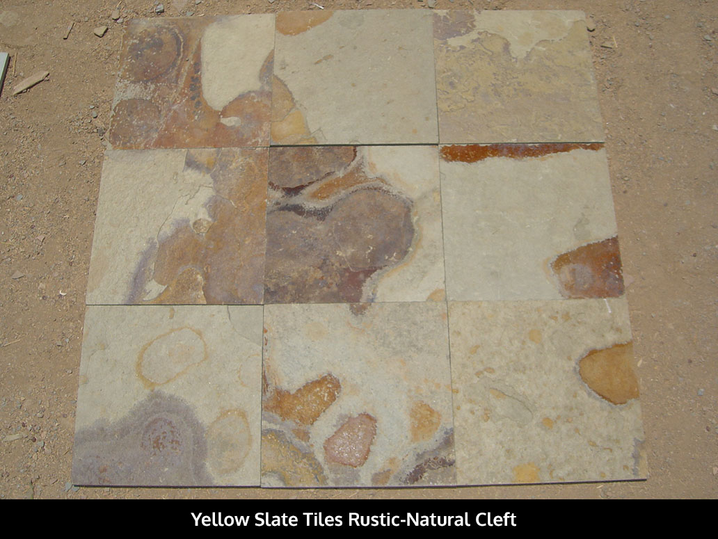 Rustic Yellow Slate Tiles