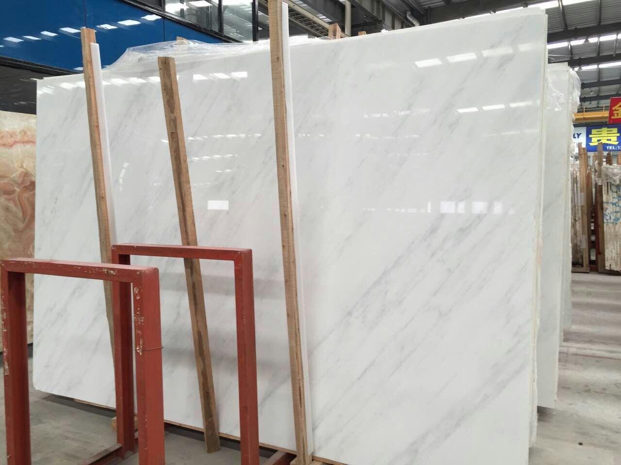 China White Marble  Guangxi White Marble Slab   Bianco Carrara White