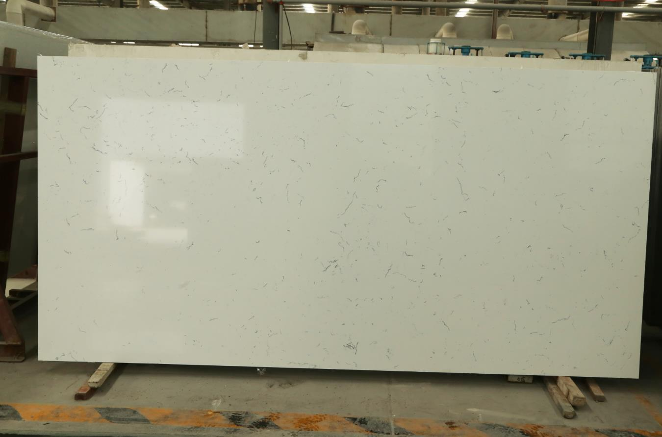 artificial quartz stone slab countertop carrara