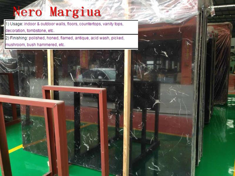 Natural Nero Marquina Marble Slabs