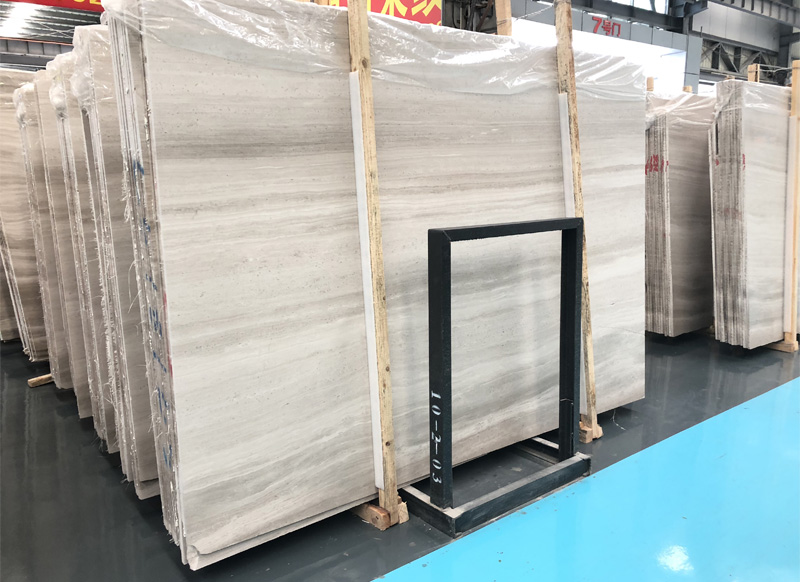 woodn white marble slabs