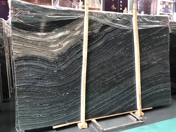 Silver Wave Marble Antique Wood Vein Marble Black Forest Marble Slabs