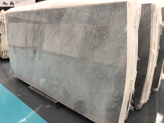 Grey Crystal Marble Slab Flooring Tile Wall Covering
