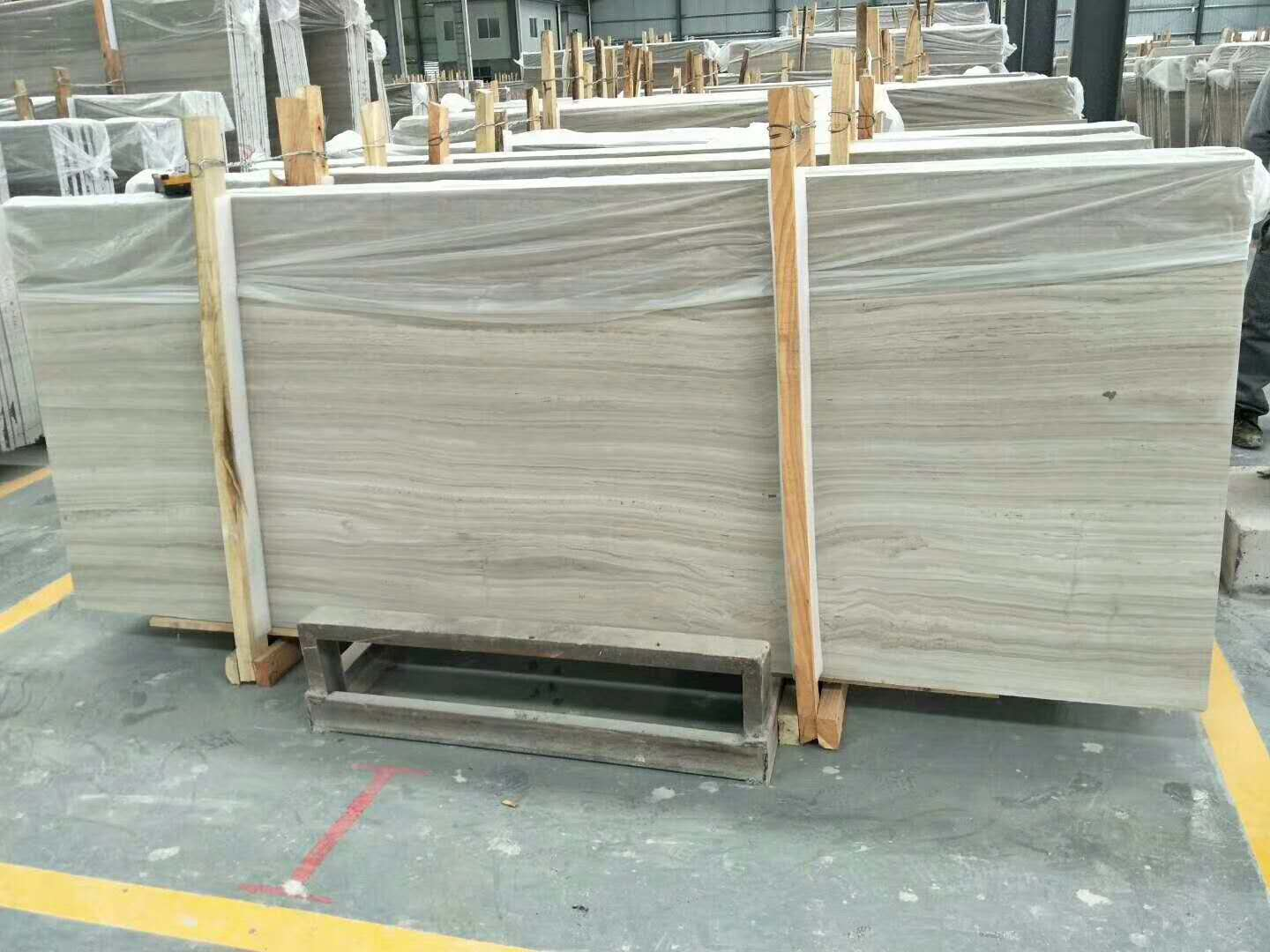 Chinese Grey Wooden Grain Marble Slabs