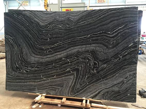 Black Wooden Vein Marble Silver Wave Marble Kenya Marble