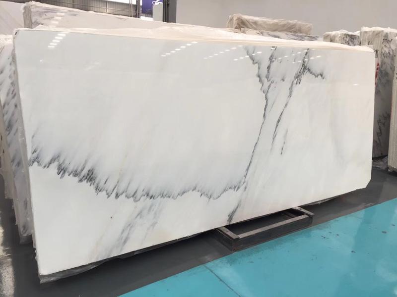 Chinese White Marble Calacatta Grey Marble Slab