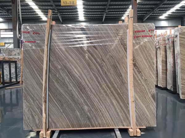 Kylin Wood Vein Marble  Brown Wood Grain Marble- Bookmatched
