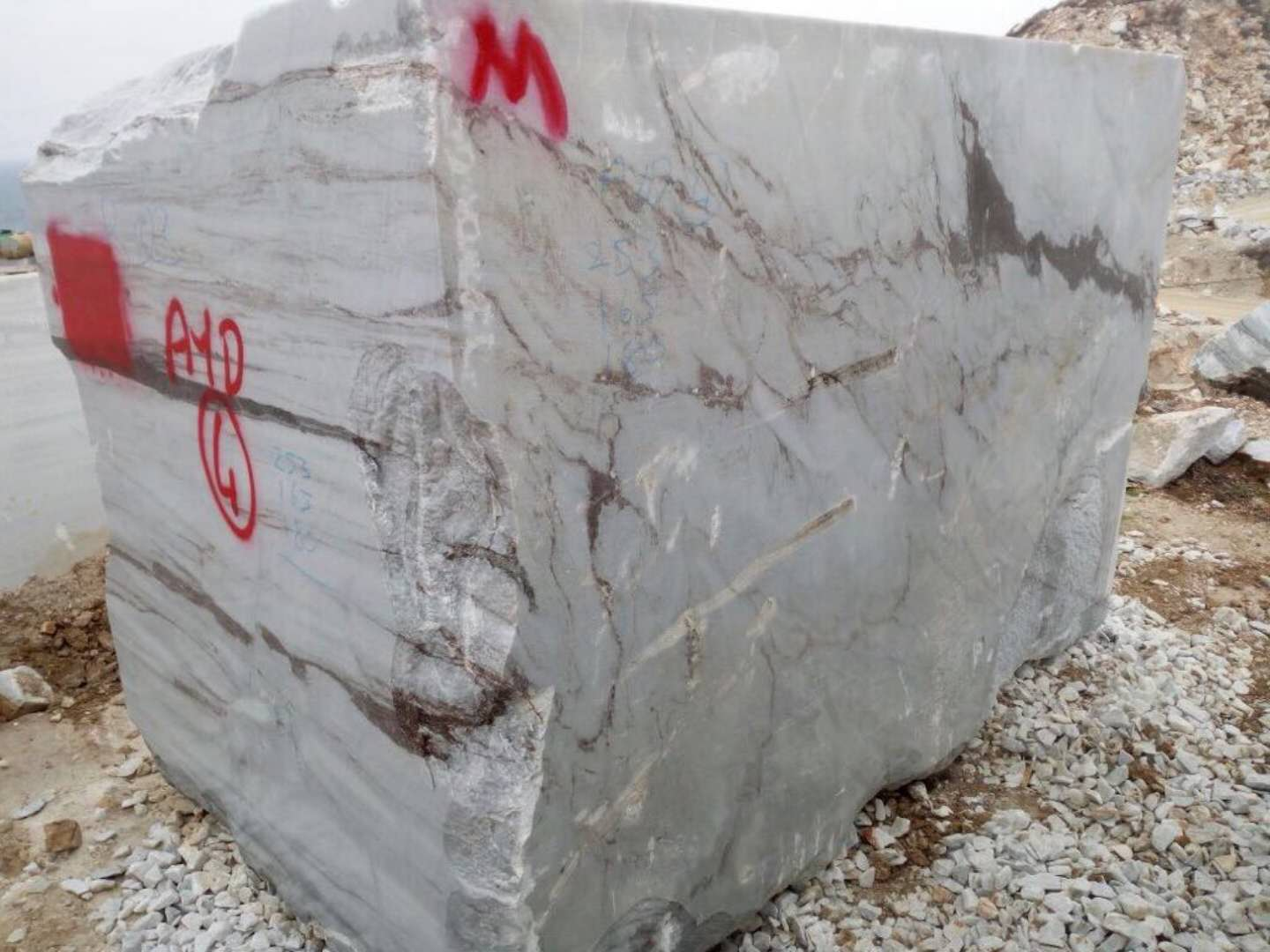 Lanbo Grey Marble Block