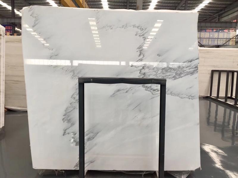 Calacatta Grey Marble Slab Chinese White Marble