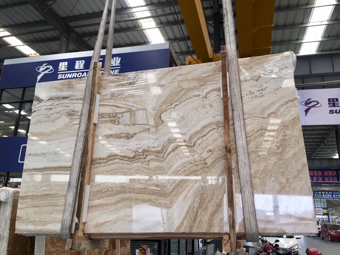 Golden Silk Jade Marble Slab