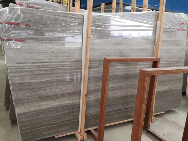 Grey Wood Marble Slab Wooden Grey Marble Flooring Tile