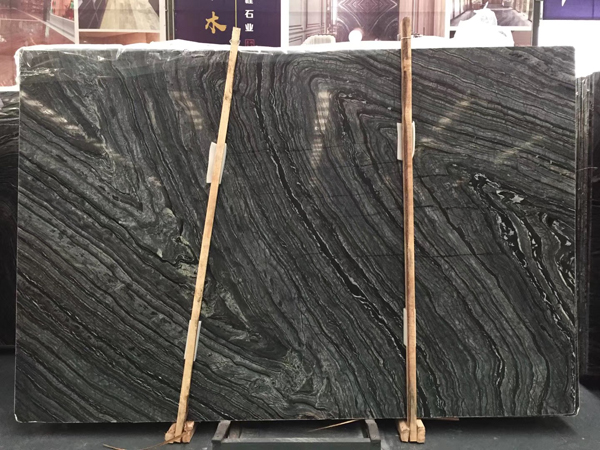 Black Forest Marble Slab Silver Wave Marble