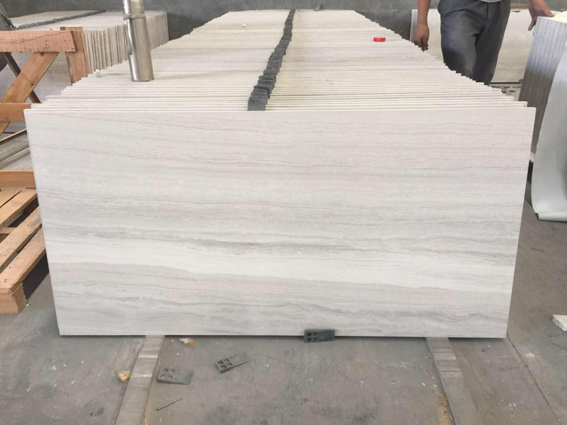 White Wood Marble Haisa Light White Serpeggiate