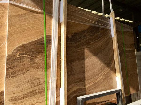 Imperial Wood Vein Yellow Wood Grain Marble Slab