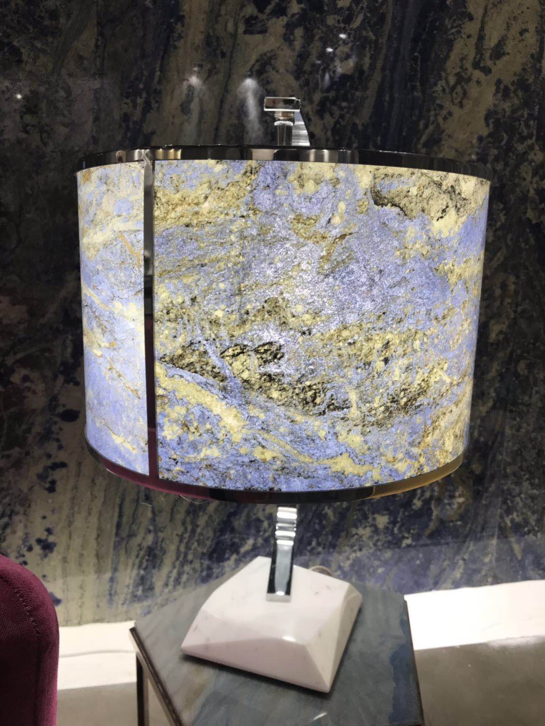 Blue Marble Lamp