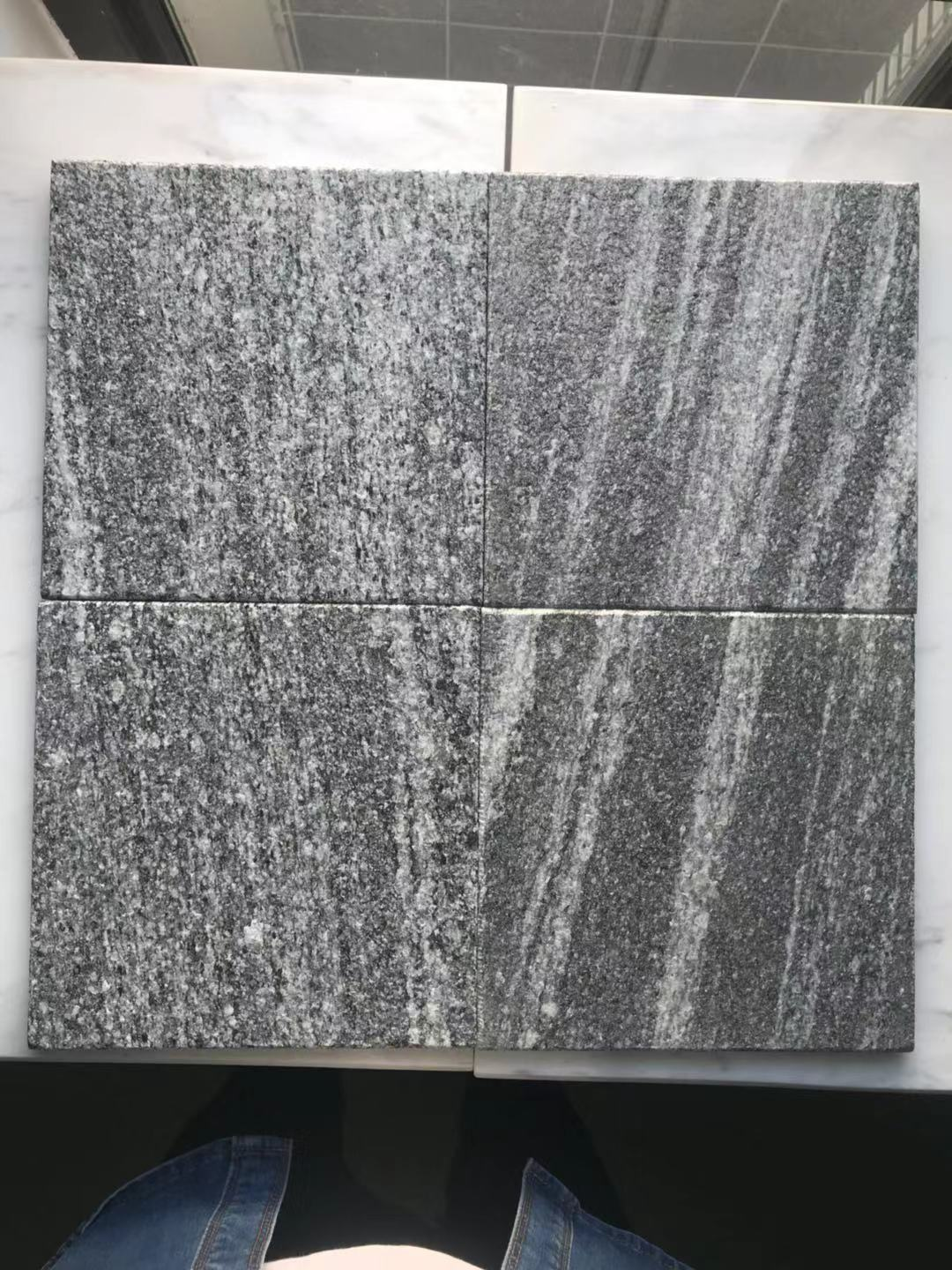 G302 Fantasy Galaxy Black Wood Vein Granite Tiles