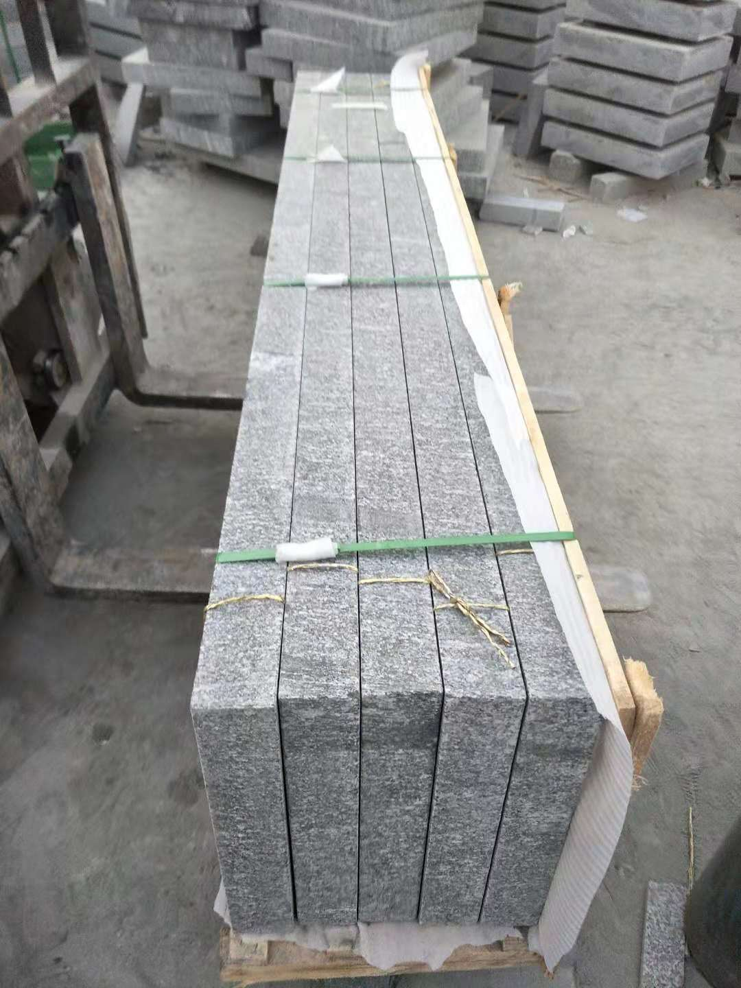 Mountain Green Granite Block Steps