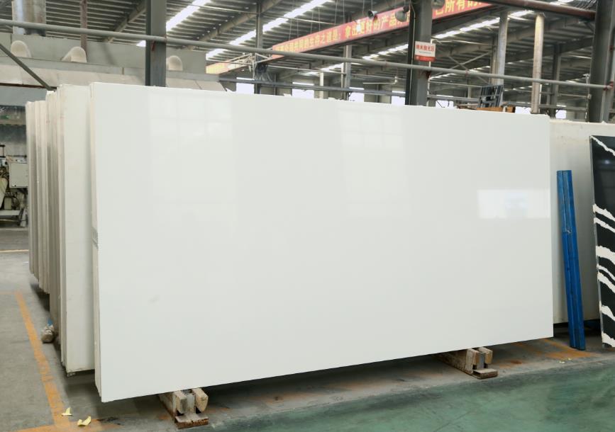 Artificial Quartz Stone Slab Countertop Pure White