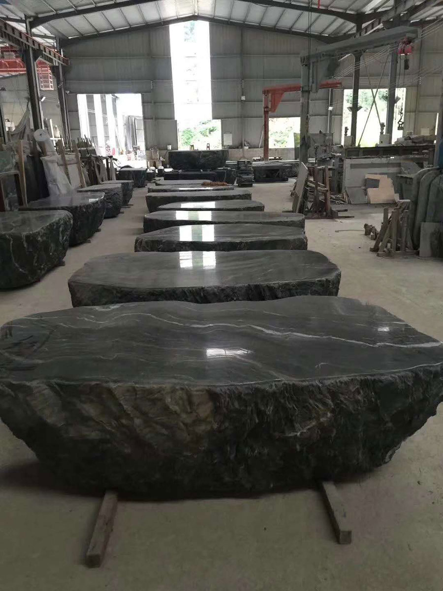 Kowloon Jade Tea Terrace Marble Table Tops from China
