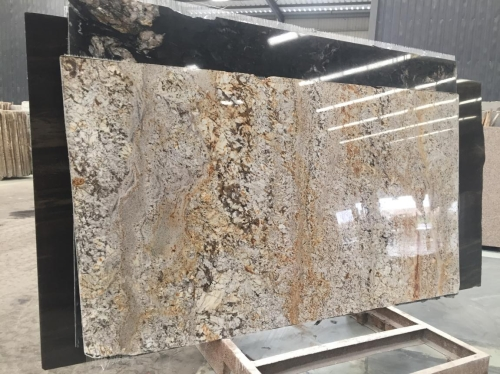 Pisa White Gold Granite Slabs