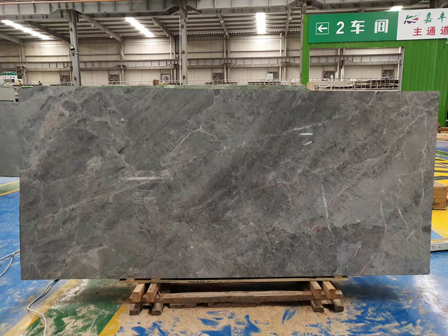 Silver Mink Marble Gray Slabs