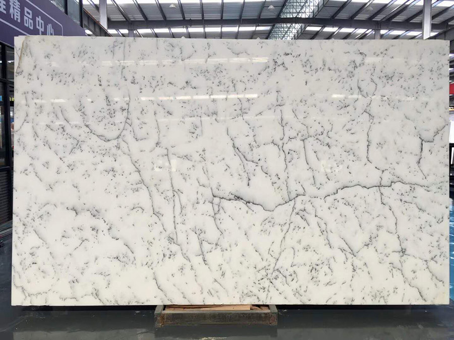 Snow Crystal White Marble Polished Slabs from China