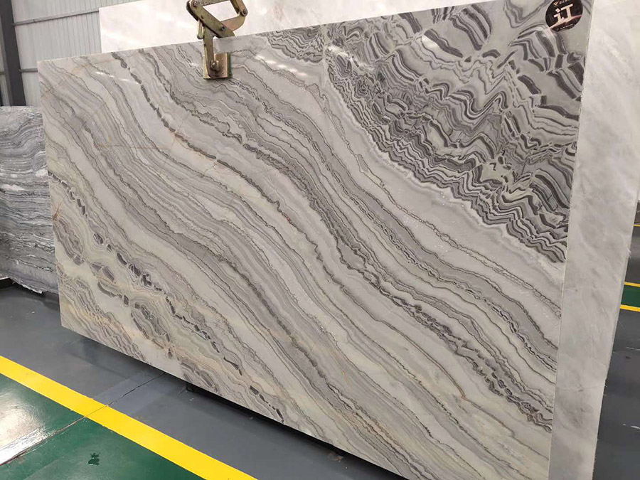 Black and White Gray Marble Slabs from China
