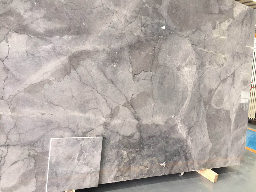 Sea blue gray marble china