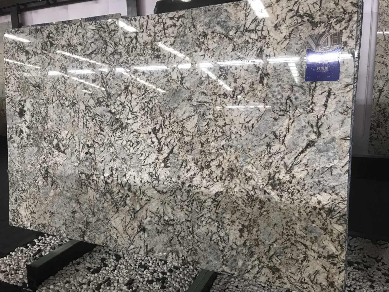 Polished White Granite Slabs