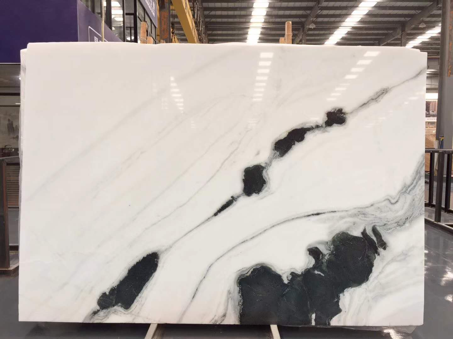 Panda White Marble Slabs Chinese Polished White Marble Slabs