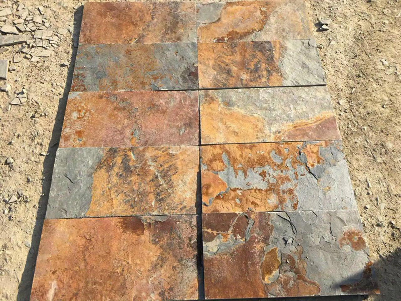 Multicolor Slate Floor Tiles