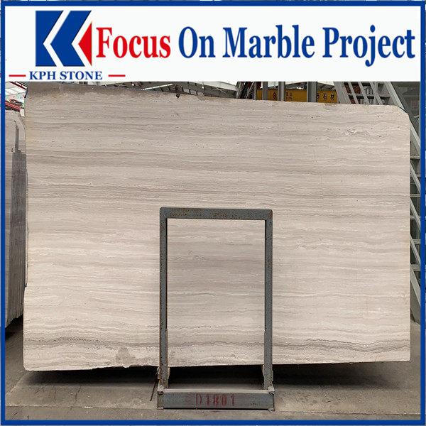 White wooden grain marble