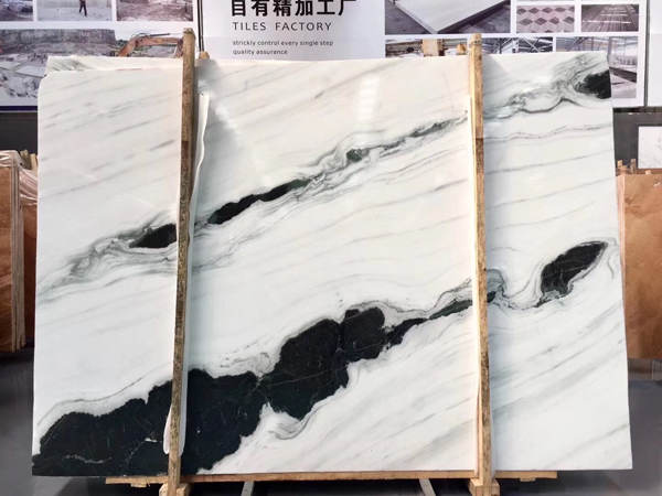 China Panda White Marble Bookmatched White Marble