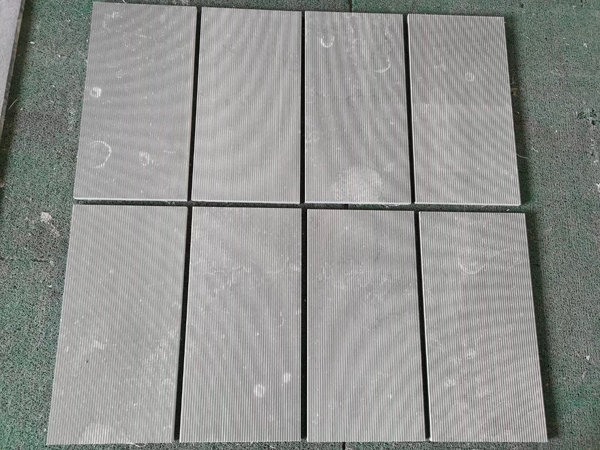Seashell Grey Marble Grooved Tiles